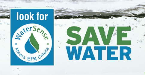 Switching to water efficient fixtures save energy for Watersense label